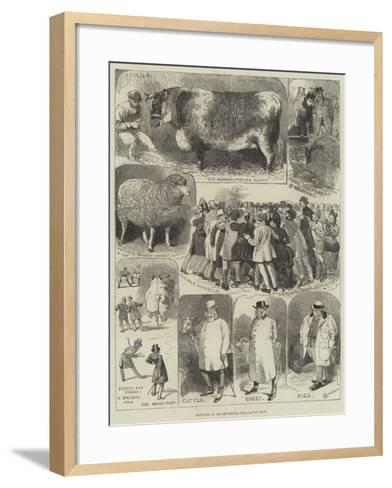 Sketches at the Smithfield Club Cattle Show-Alfred Courbould-Framed Art Print