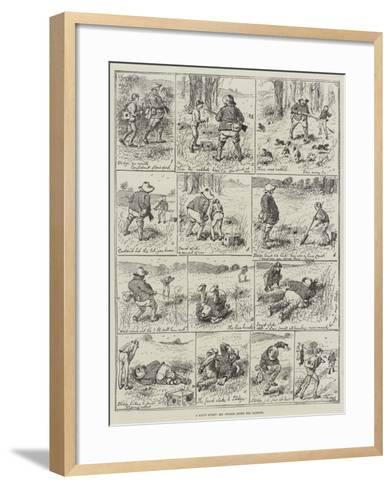 A Day's Sport, Mr Stodge after the Rabbits-Alfred Courbould-Framed Art Print