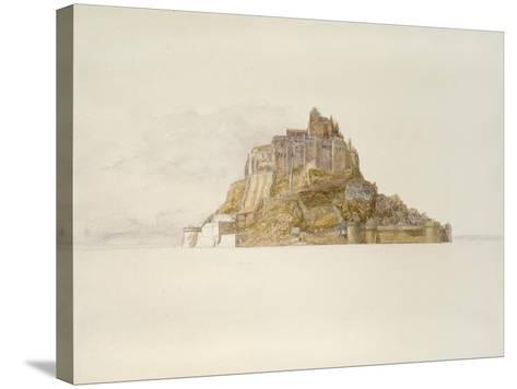 Mont St Michel from the Sands, C. 1876 (Watercolour over Graphite, on Paper)-Alfred William Hunt-Stretched Canvas Print