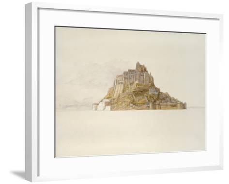 Mont St Michel from the Sands, C. 1876 (Watercolour over Graphite, on Paper)-Alfred William Hunt-Framed Art Print