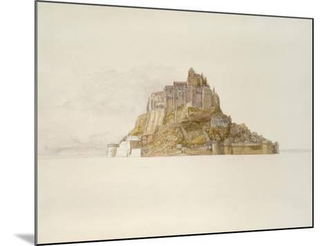 Mont St Michel from the Sands, C. 1876 (Watercolour over Graphite, on Paper)-Alfred William Hunt-Mounted Giclee Print