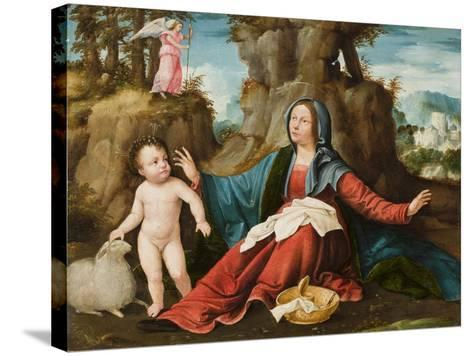 The Vision of the Virgin Mary, C.1518-20-Altobello Melone-Stretched Canvas Print