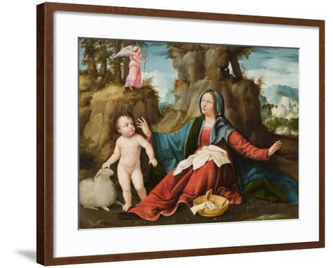 The Vision of the Virgin Mary, C.1518-20-Altobello Melone-Framed Art Print
