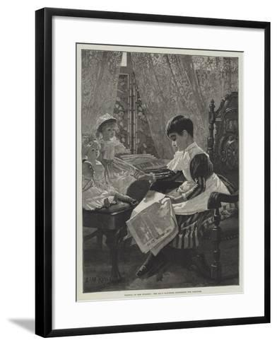 Politics in the Nursery, the Mp's Daughter Addressing the Electors-Alexander M^ Rossi-Framed Art Print