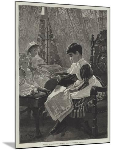 Politics in the Nursery, the Mp's Daughter Addressing the Electors-Alexander M^ Rossi-Mounted Giclee Print