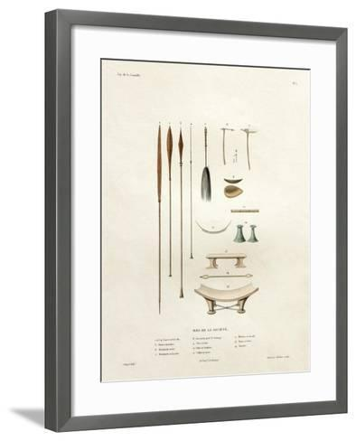 Tools of the Society Islands-Ambroise Tardieu-Framed Art Print