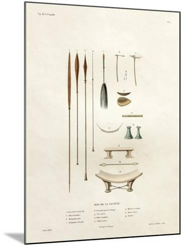 Tools of the Society Islands-Ambroise Tardieu-Mounted Giclee Print