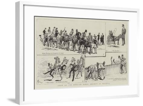 Show of the English Horse Society at Olympia-Alfred Chantrey Corbould-Framed Art Print
