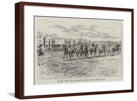 Start for the Jubilee Stakes, One Mile Flat-Alfred Chantrey Corbould-Framed Art Print