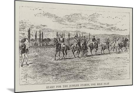 Start for the Jubilee Stakes, One Mile Flat-Alfred Chantrey Corbould-Mounted Giclee Print