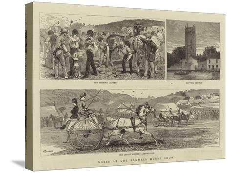 Notes at the Banwell Horse Show-Alfred Chantrey Corbould-Stretched Canvas Print
