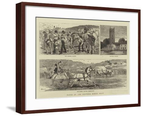 Notes at the Banwell Horse Show-Alfred Chantrey Corbould-Framed Art Print