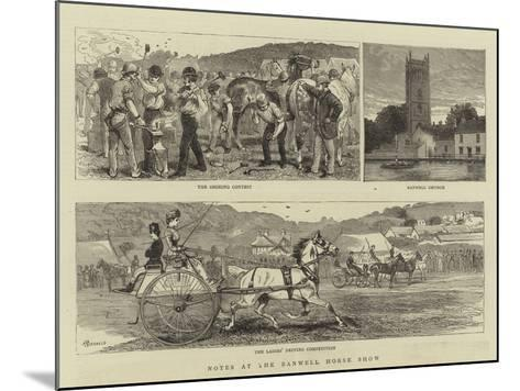 Notes at the Banwell Horse Show-Alfred Chantrey Corbould-Mounted Giclee Print