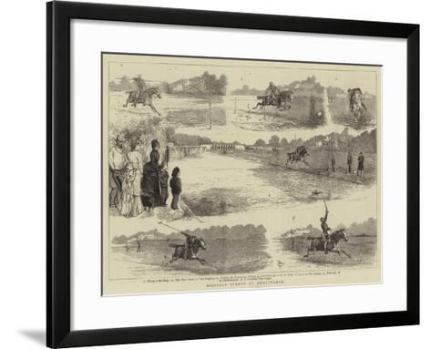 Military Sports at Hurlingham-Alfred Chantrey Corbould-Framed Art Print