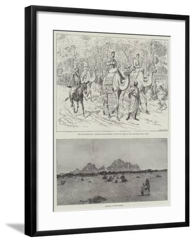 The Nile Expedition-Alfred Courbould-Framed Art Print