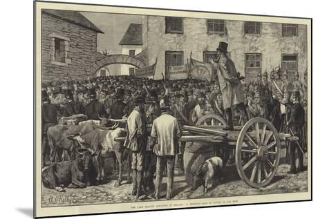 The Land League Agitation in Ireland, a Sheriff's Sale of Cattle, to Pay Rent-Aloysius O'Kelly-Mounted Giclee Print