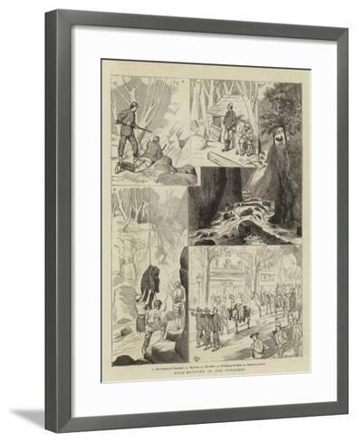 Bear-Hunting in the Pyrenees-Alfred Chantrey Corbould-Framed Art Print