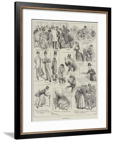 Christmas Cards-Alfred Courbould-Framed Art Print