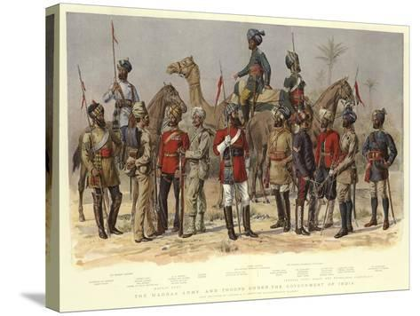 The Madras Army, and Troops under the Government of India-Alfred Crowdy Lovett-Stretched Canvas Print