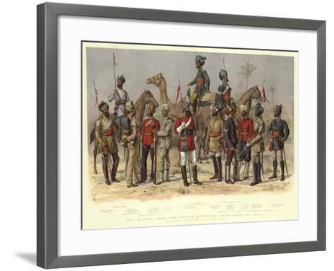 The Madras Army, and Troops under the Government of India-Alfred Crowdy Lovett-Framed Art Print