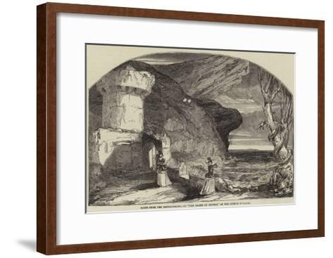 Scene from the Extravaganza of The Island of Jewels, at the Lyceum Theatre-Alfred Crowquill-Framed Art Print
