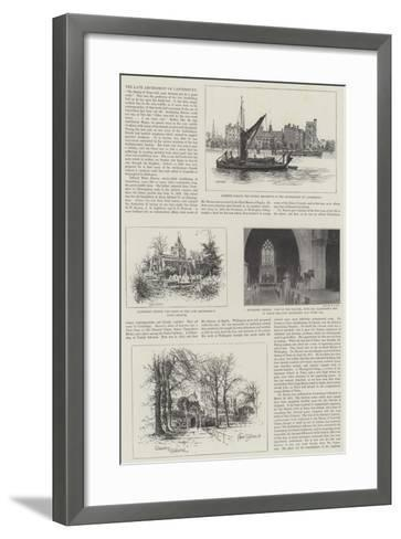 The Late Archbishop of Canterbury-Alfred Robert Quinton-Framed Art Print
