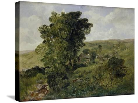 View of Nantlle, Caernarvonshire, 1855-Alfred William Hunt-Stretched Canvas Print