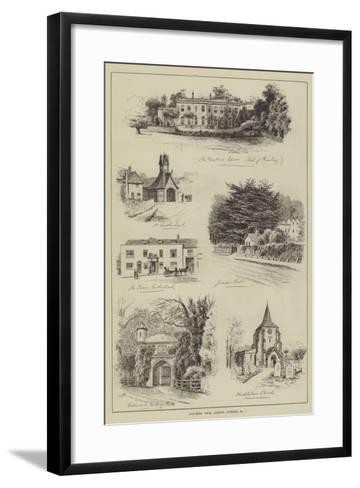 Coaching from London, Dorking-Alfred Robert Quinton-Framed Art Print