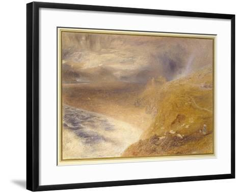 Harlech Castle, 1857-Alfred William Hunt-Framed Art Print
