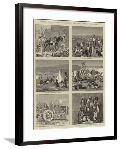 Sketches from the Camp of Exercise of the Indian Army in the Punjaub-Alfred Chantrey Corbould-Framed Art Print