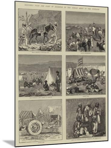 Sketches from the Camp of Exercise of the Indian Army in the Punjaub-Alfred Chantrey Corbould-Mounted Giclee Print
