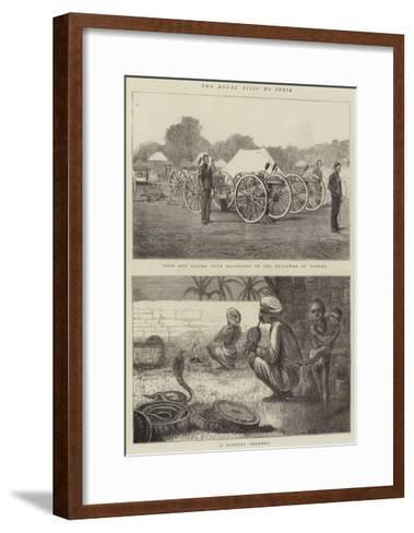 The Royal Visit to India-Alfred Chantrey Corbould-Framed Art Print