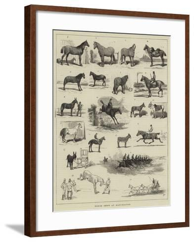 Horse Show at Manchester-Alfred Chantrey Corbould-Framed Art Print