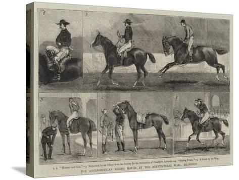 The Anglo-Mexican Riding Match at the Agricultural Hall, Islington-Alfred Chantrey Corbould-Stretched Canvas Print