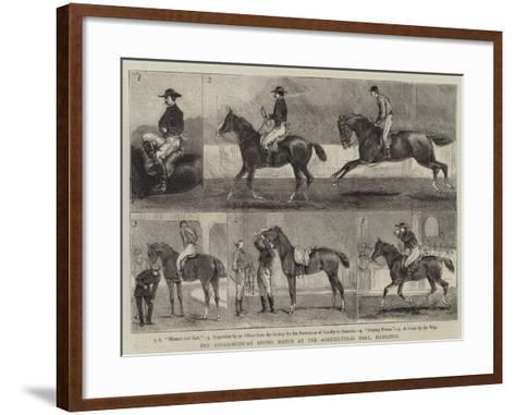 The Anglo-Mexican Riding Match at the Agricultural Hall, Islington-Alfred Chantrey Corbould-Framed Art Print