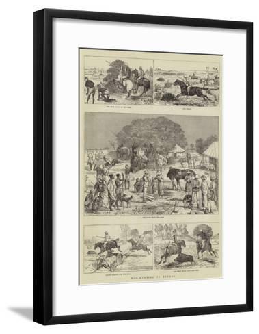 Hog-Hunting in Bengal-Alfred Chantrey Corbould-Framed Art Print