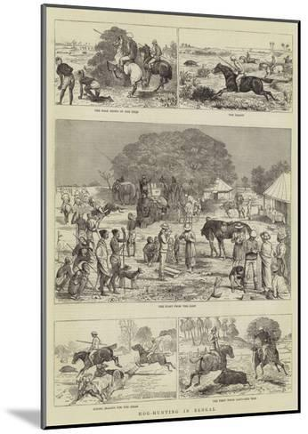 Hog-Hunting in Bengal-Alfred Chantrey Corbould-Mounted Giclee Print