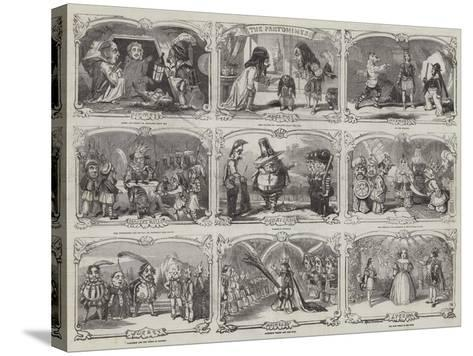 Pantomimes in London-Alfred Crowquill-Stretched Canvas Print