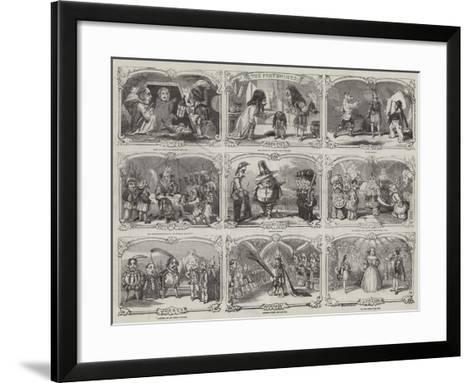 Pantomimes in London-Alfred Crowquill-Framed Art Print