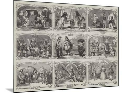 Pantomimes in London-Alfred Crowquill-Mounted Giclee Print