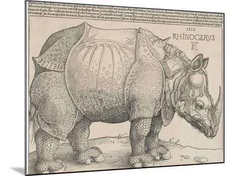 The Rhinoceros, 1515-Albrecht D?rer-Mounted Giclee Print