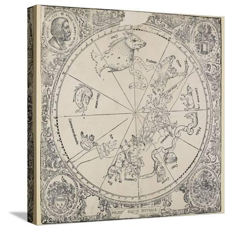 The Celestial Chart of the Southern Hemisphere-Albrecht D?rer-Stretched Canvas Print