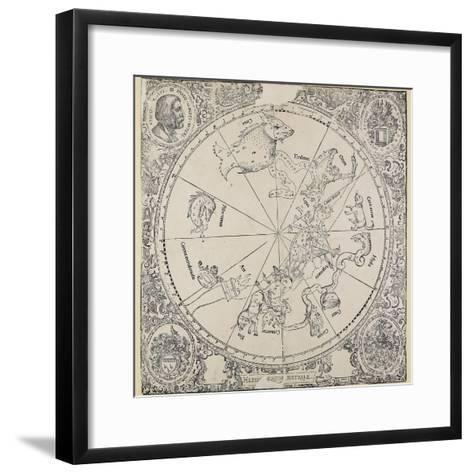 The Celestial Chart of the Southern Hemisphere-Albrecht D?rer-Framed Art Print