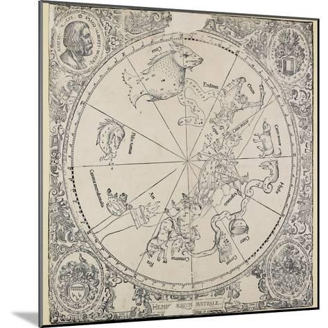 The Celestial Chart of the Southern Hemisphere-Albrecht D?rer-Mounted Giclee Print