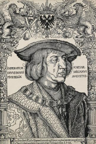 Portrait of Emperor Maximilian I, C. 1519-Albrecht D?rer-Stretched Canvas Print