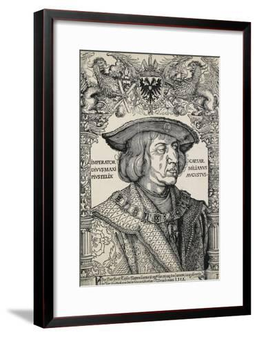 Portrait of Emperor Maximilian I, C. 1519-Albrecht D?rer-Framed Art Print