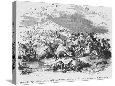 The Defeat of the Cimbri-Alexandre Gabriel Decamps-Stretched Canvas Print