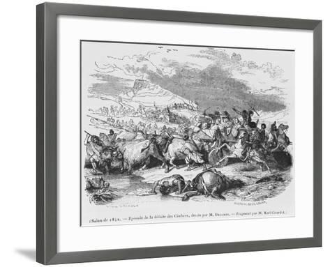 The Defeat of the Cimbri-Alexandre Gabriel Decamps-Framed Art Print