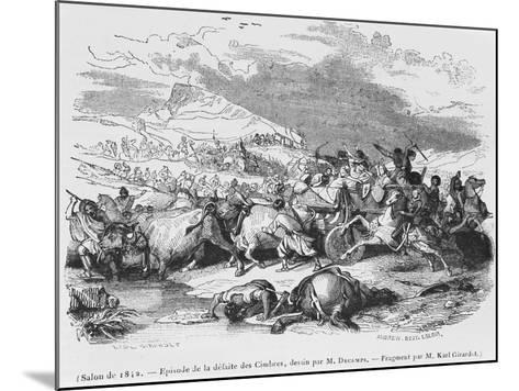 The Defeat of the Cimbri-Alexandre Gabriel Decamps-Mounted Giclee Print