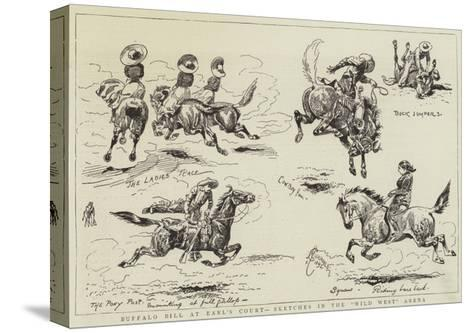 Buffalo Bill at Earl's Court, Sketches in the Wild West Arena-Alfred Chantrey Corbould-Stretched Canvas Print